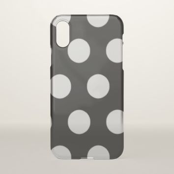 Black and White Polka Dot iPhone X Case