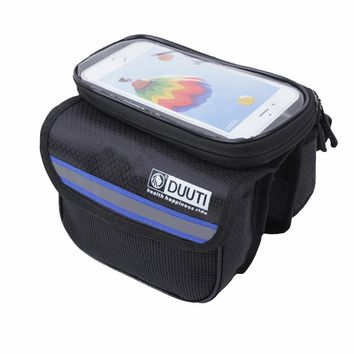 5L Rainproof Reflective Bicycle Bags Touchable Screen Cycling Bike Frame Bags Holder Pannier Phone Bag Bicycle Accessories C0006
