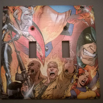 GI Joe Comic Book light switch cover double