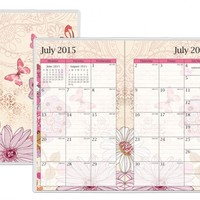 July 2015 - December 2016 Lianne Monthly Stapled Planner 3.625x6.125
