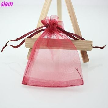 100 2.5x3.5 Inch Aromatherapy Jewelery Sales Organza Bags  - 16 Colors to Choose From