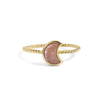 Moonbloom Champagne Pink Druzy Stacking Ring