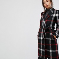 Gianni Feraud Check Duster Coat at asos.com