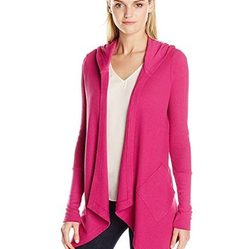 Women's Thermal Wrap Hooded Cardigan Sweater