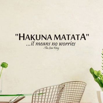 New Hot Sale Hakuna Matata Wall Sticker Waterproof Removable PVS Vinyl Art Decor = 1706390468