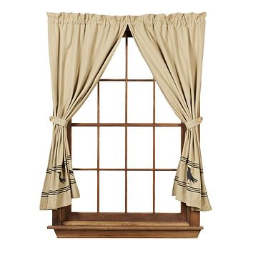 Olde Crow Short Panel Curtains