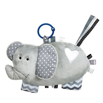 Activity Elephant with Rattle - 9-in