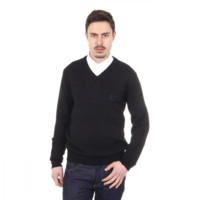 V 1969 Italia mens V neck sweater 9803 SCOLLO V NERO