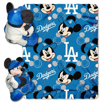 Los Angeles Dodgers MLB Mickey Mouse with Throw Combo