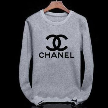 ONETOW Tagre? Chanel Fashion CC Logo Long Sleeve Top Sweater Pullover Sweatshirt