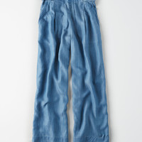 AE Denim D-Ring Paperbag Pant, Blue