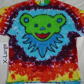 Adult XL Tie-Dye Jerry Bear with Collar Tee