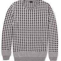 PS by Paul Smith - Houndstooth Check Cotton Sweater | MR PORTER