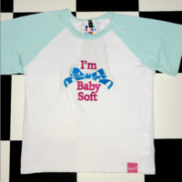 SWEET LORD O'MIGHTY! BABYSOFT CROP RAGLAN