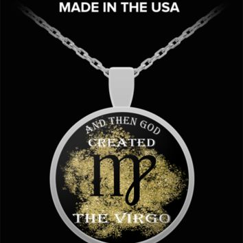 And Then God Created Virgo Pendant Necklace