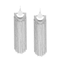 Drop It Tassel Earrings | Silver