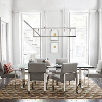 Mercer Dining Table with Glass Top