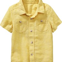 Old Navy Linen Blend Shirts For Baby
