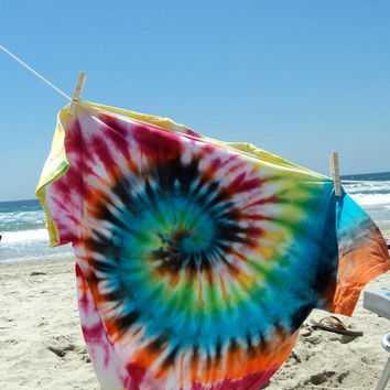 Classic Spiral tie dye T shirt Adult size M *