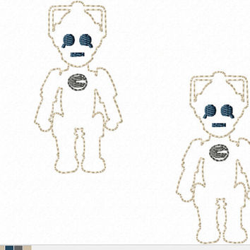 DIGITAL FILE Cyber robot upgraded human beings D-octor Who felt clippies 4x4 ITH Machine Embroidery Design download clips felties