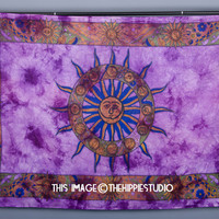 Indian Mandala Tapestries, Astrology Tapestry, Hippie Tapestries, Tapestry Wall Hanging, Wall Tapestries, Bohemian Bed Spread, Dorm Tapestry