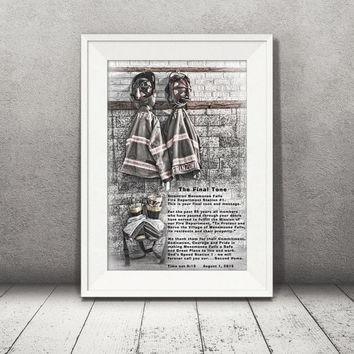 Fire Department Print, Wall Art, Fire Station Final Tone, Firefighter Gift, Fireman Print, Retirement Inspirational Words, Fire Decor