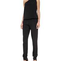 Ramy Brook Lulu One-Shoulder Jersey Jumpsuit