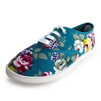 Womens Floral Sneakers (Adults)