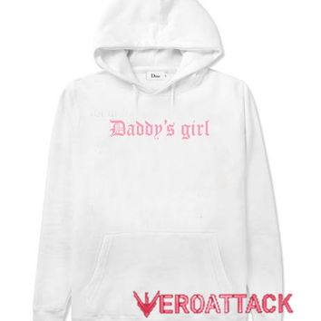 Daddy's Girl White color Hoodies