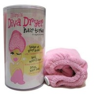 Mimi's Diva Dryer by Aquis Microfiber Hair Turban, Patented Design, Pink