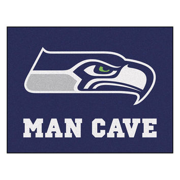 Seattle Seahawks NFL Man Cave All-Star Floor Mat (34in x 45in)