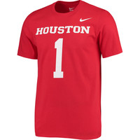 #1 Houston Cougars Nike Jersey T-Shirt - Red
