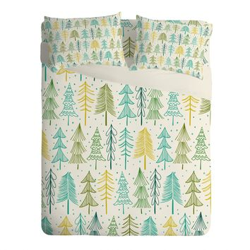 Heather Dutton Oh Christmas Tree Frost Sheet Set Lightweight