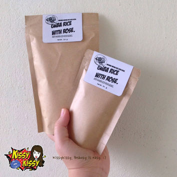 2packRefill-Natural 100% (Hom mali Thai rice)Jasmine gaba rice with rose face mask and scrub 2 in 1-50g.&120g.