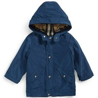 Infant Boy's Burberry 'Rainford' 2-in-1 Hooded Jacket,