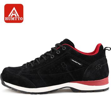 HUMTTO Men Hiking Shoes Breathable Waterproof Sneakers Winter Outdoors Leather Lace Walking Climbing Shoes Women
