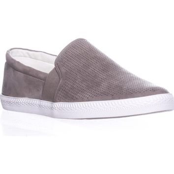 SC35 Louiza Perforated Slip-On Sneakers, Light Grey, 11 US