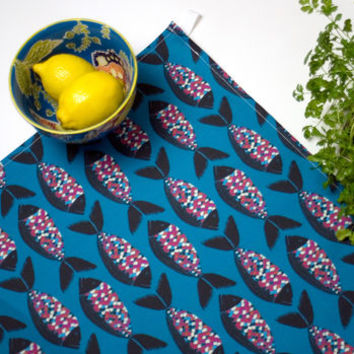Colourful Fish Cotton Tea Towel