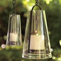 Recycled Glass Shade Lantern | Pottery Barn