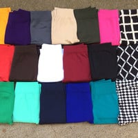Fleece Lined Solid Color Leggings