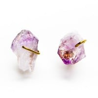 Brandy ♥ Melville |  Amethyst Crystal Earrings - Earrings - Jewelry - Accessories