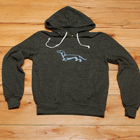 Dachshund Hoodie, Men's Sweatshirt, Doxie Shirt, Gift for Dad, S,M,L,XL,XXL