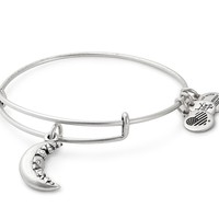 Crescent Moon Charm Bangle
