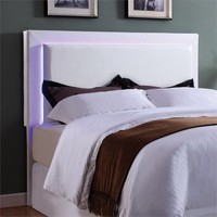 Coaster Company Perkins LED Headboard Queen/Full, White Leatherette - Walmart.com