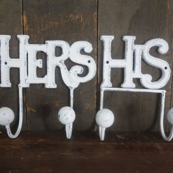 His and Hers Cast Iron Towel Rack