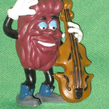 California Raisins Vintage 1988 PVC Figure Playing Bass Or Cello CALRAB Applause Collectable