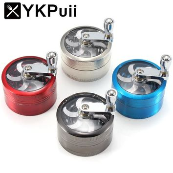 3 Layers Herb Spice Grinder Aluminum Mill Magnetic Pollinator 55mm Hand Hookah Pipe Tobacco Smoking Pipe Crusher Smoke Filter