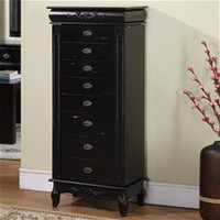 Morris 8 Drawer Jewelry Armoire  Materials: MDF, poplar wood, plywood, felt  Black   On Specail: $301.80 With Free Shipping