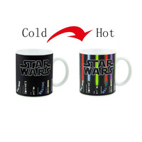 Magic Mugs Cup Change Color Star Wars Lightsaber Heat Reveal