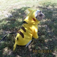 French Bulldog Boston Terrier Pug Froodies Hoodies Costume Pokemon Go Pikachu